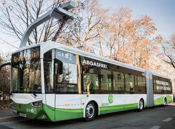 E-Bus Graz Ladevorgang