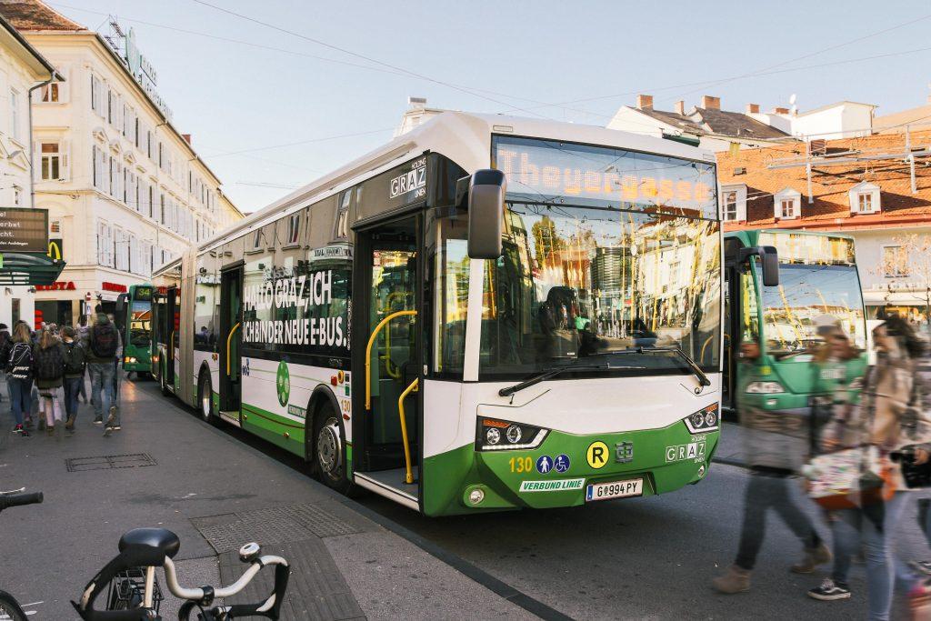 CRRC Fahrgastbetrieb E-Bus Graz